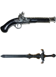 Kardok, pisztolyok, fegyverek